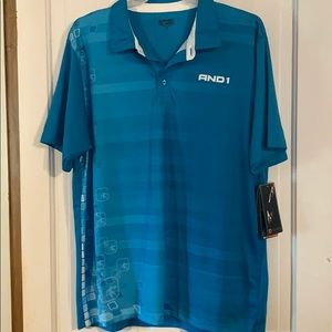 new AND1 polo shirts